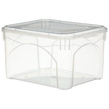 John Lewis Clear Plastic Lidded Storage Boxes