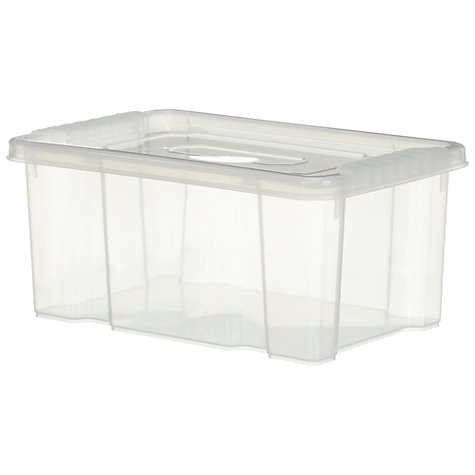 Buy John Lewis Clear Plastic Lidded Storage Box, 5L Online at johnlewis.com