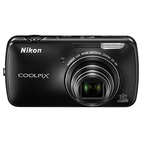 "Buy Nikon Coolpix S800c Camera, HD 1080p, 16MP, 10x Zoom, GPS, Wi-Fi with 3.5"" OLED Touchscreen, Black Online at johnlewis.com"