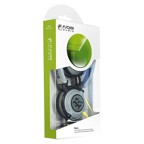 Buy Fischer Audio Draco On-Ear Headphones with Microphone, Grey Online at johnlewis.com