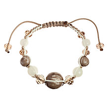 Buy John Lewis Beaded Friendship Bracelet, Grey Online at johnlewis.com