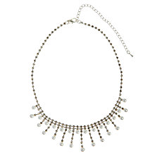 Buy John Lewis Diamante and Faux Pearl Drop Front Necklace Online at johnlewis.com