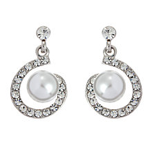 Buy John Lewis Faux Pearl and Diamante Spiral Stud Earrings Online at johnlewis.com