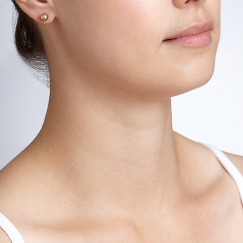 Buy John Lewis Faux Pearl Earrings Trio, Mink Online at johnlewis.com