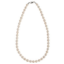 Buy John Lewis Faux Pearl Necklace, White Online at johnlewis.com