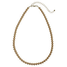 Buy John Lewis Faux Pearl Short Necklace, Mink Online at johnlewis.com