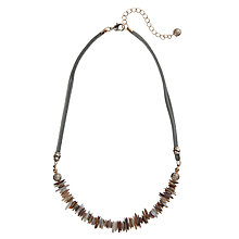 Buy John Lewis Chip and Cord Necklace, Neutrals Online at johnlewis.com