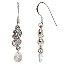 Buy John Lewis Mini Swarvoski Sparkle Drop Earrings, Silver Online at johnlewis.com