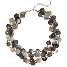 Buy John Lewis Overlapping Button Bead Necklace, Neutrals Online at johnlewis.com