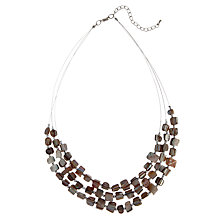 Buy John Lewis Triple Strand Nugget Necklace, Grey Online at johnlewis.com