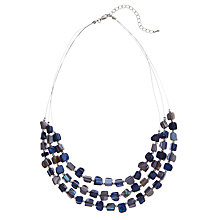 Buy John Lewis Triple Acrylic Bead Nugget Necklace, Blue Online at johnlewis.com