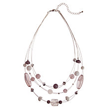 Buy John Lewis Triple Row Illusion Necklace Online at johnlewis.com
