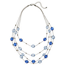 Buy John Lewis Four Row Acrylic Bead Illusion Necklace, Blue Online at johnlewis.com