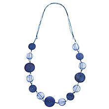 Buy John Lewis Acrylic Shell Cord Necklace, Blue Online at johnlewis.com