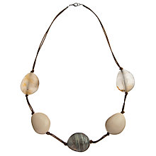 Buy John Lewis Large Bead Cord Necklace, Neutrals Online at johnlewis.com