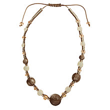 Buy John Lewis Friendship Style Cord Necklace, Brown Online at johnlewis.com