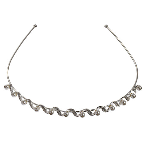Buy John Lewis Faux Pearl and Twist Head Band Online at johnlewis.com