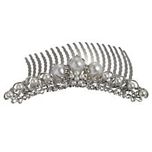 Buy John Lewis Faux Pearl and Diamante Side Comb Online at johnlewis.com