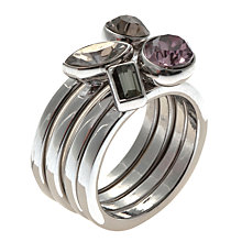Buy John Lewis Swarvoski Stacker Ring Set Online at johnlewis.com