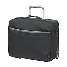 "Buy Mandarina Duck 17"" Laptop 2-Wheel Mobile Office, Black Online at johnlewis.com"