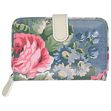 Buy Cath Kidston Antique Rose Print Folded Zip Wallet, Blue Online at johnlewis.com
