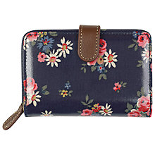 Buy Cath Kidston Daisy Print Folded Zip Wallet, Navy Online at johnlewis.com