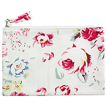 Buy Cath Kidston Floral Print Cotton Zip Purse, White Online at johnlewis.com