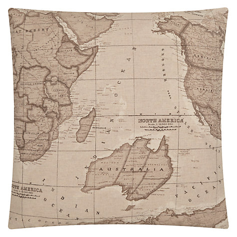 Buy John Lewis Map Cushion, Sepia Online at johnlewis.com
