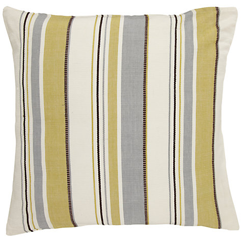 Buy John Lewis Cotton Stripe Cushion, Green Online at johnlewis.com