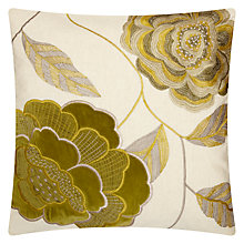 Buy John Lewis Bloom Cushion, Green Online at johnlewis.com