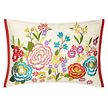 Buy John Lewis Tropical Flowers Cushion, Multi Online at johnlewis.com