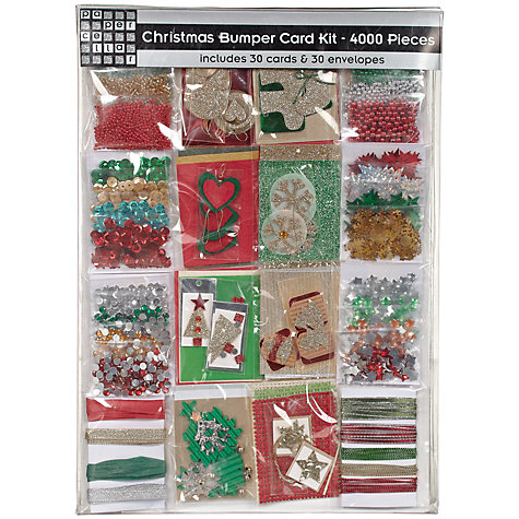 Buy John Lewis Christmas Bumper Card Kit, 4000 Pieces Online at johnlewis.com