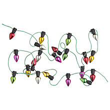 Buy John Lewis Christmas Lights Paper Toppers, Pack of 22, Multi Online at johnlewis.com