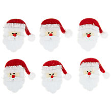Buy John Lewis Christmas Paper Toppers, Father Christmas Heads, Pack of 6 Online at johnlewis.com