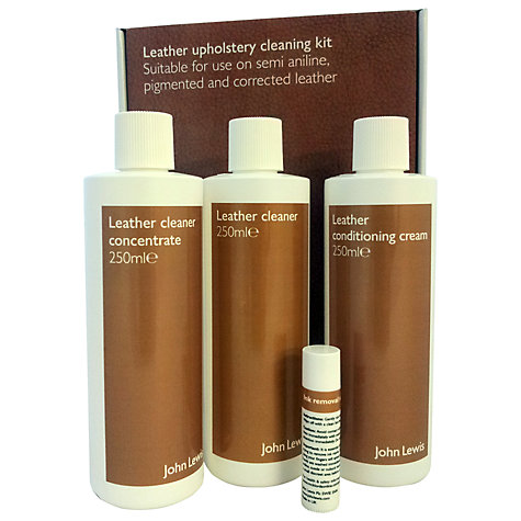 Buy John Lewis Leather Semi-Aniline Cleaning Kit Online at johnlewis.com