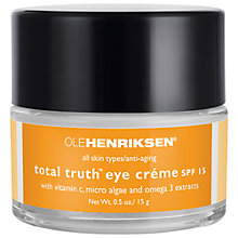 Buy OLEHENRIKSEN Total Truth™ Eye Crème SPF15, 15g Online at johnlewis.com
