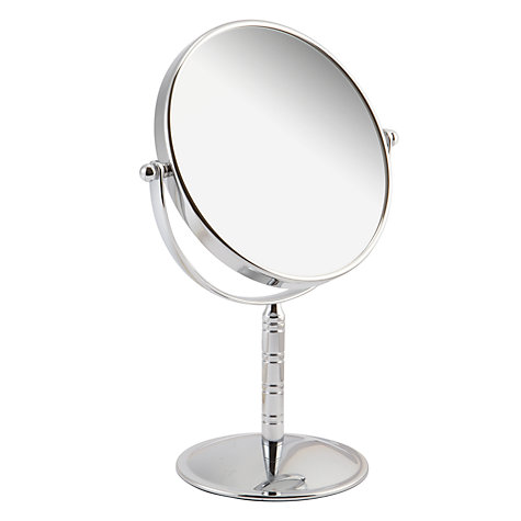 Buy John Lewis Ring Stem Free Standing Mirror, Chrome Online at johnlewis.com