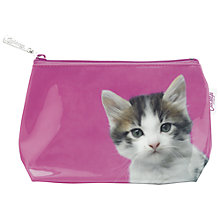Buy Catseye Kitten Small Toiletries Bag, Pink Online at johnlewis.com