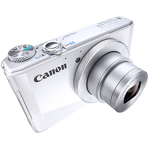 "Buy Canon PowerShot S110 Digital Camera, HD 1080p, 12.1MP, 5x Optical Zoom, Wi-Fi, GPS, 3"" Touch Screen Online at johnlewis.com"