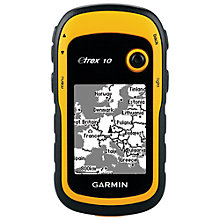 Buy Garmin eTrex 10 Handheld GPS and Geocaching Kit, Black/Yellow Online at johnlewis.com