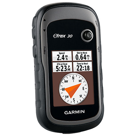 Buy Garmin eTrex 30 Handheld GPS, Black/Grey Online at johnlewis.com