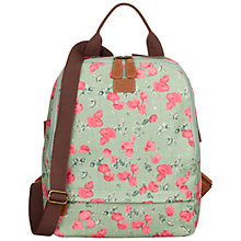 Buy Nica Play Floral Print Coated Canvas Backpack, Mint Online at johnlewis.com