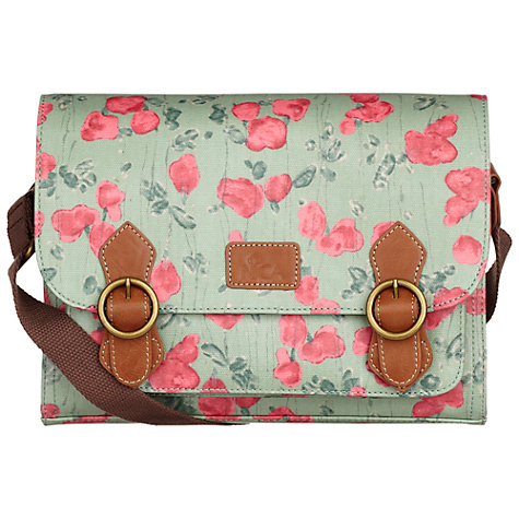 Buy Nica Play Floral Print Coated Canvas Satchel, Mint Online at johnlewis.com