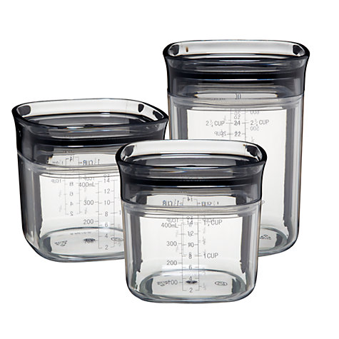 Buy John Lewis House Set of 4 Acrylic Storage Boxes, Clear Online at johnlewis.com
