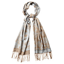 Buy Viyella Flower Scarf, Camel/Blue Online at johnlewis.com