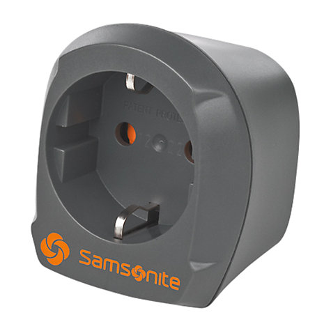 Buy Samsonite Europe/UK Plug Adaptor, Graphite Online at johnlewis.com