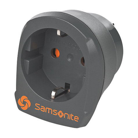 Buy Samsonite Europe/US Plug Adaptor, Graphite Online at johnlewis.com