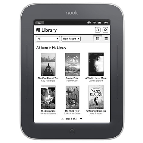 Buy NOOK Simple Touch GlowLight eReader Online at johnlewis.com
