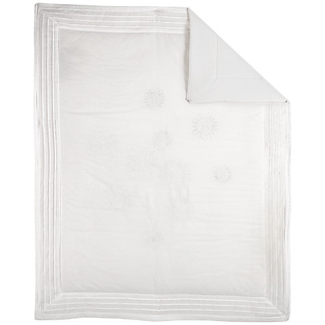 Buy John Lewis Heritage Cotbed Quilt, White Online at johnlewis.com