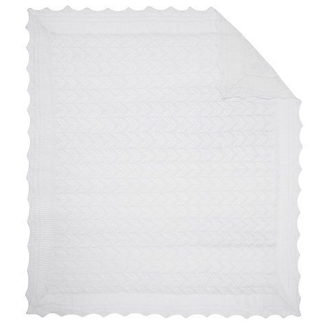 Buy John Lewis Baby Christening Shawl/Receiving Blanket, Off White Online at johnlewis.com